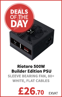 Riotoro 500W Builder Edition PSU