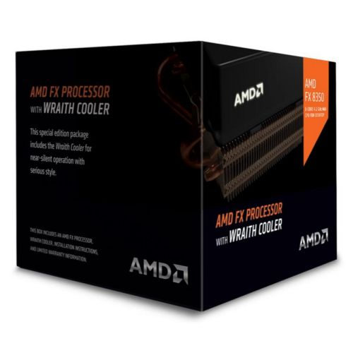 AMD FX-8350 CPU with Wraith Cooler, AM3+, 4.0GHz, 8-Core, 125W, 16MB Cache, 32nm, Black Edition, No Graphics