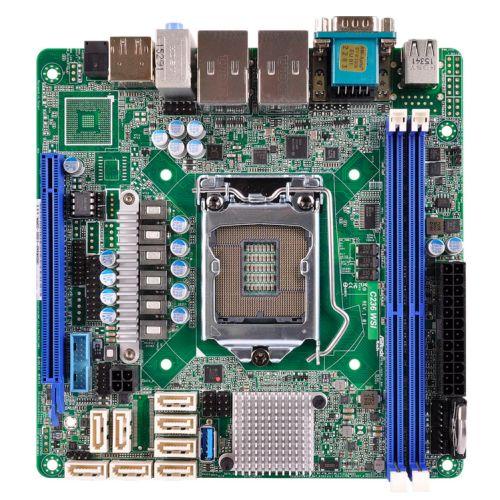 Asrock Rack C236 WSI Server Board, Intel C236, 1151, Mini ITX, DDR4, Dual GB LAN, Serial Port
