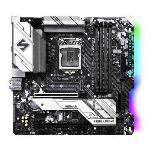 Asrock B460M STEEL LEGEND, Intel B460, 1200, Micro ATX, 4 DDR4, HDMI, DP, XFire, 2.5GB LAN, RGB Lighting, M.2