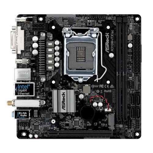 Asrock H310M-ITX/AC, Intel H310, 1151, Mini ITX, 2 DDR4, DVI, HDMI, DP, Wi-Fi,  M.2