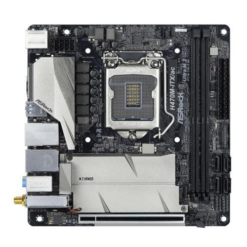Asrock H470M ITX/AC, Intel H470, 1200, Mini ITX, 2 DDR4, HDMI, DP, AC Wi-Fi, 2.5GB LAN, M.2