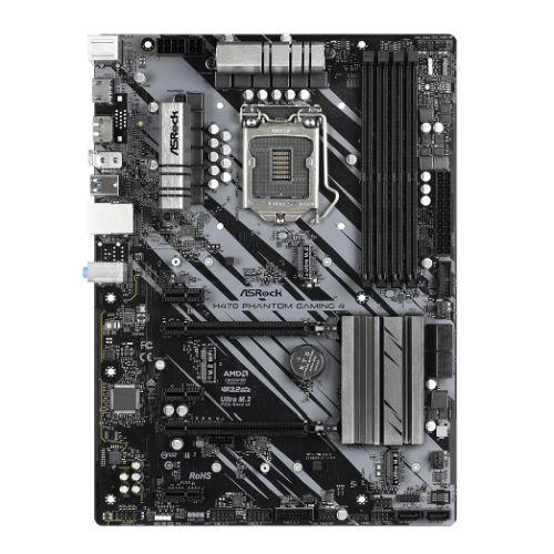 Asrock H470 PHANTOM GAMING 4, Intel H470, 1200, ATX, 4 DDR4, XFire, HDMI, DP, RGB Lighting, M.2