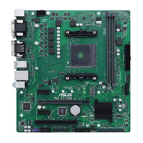 Asus PRO A520M-C/CSM - Corporate Stable Model, AMD A520, AM4, Micro ATX, 2 DDR4, VGA, DVI, HDMI, M.2, LPC Header & Debug Card