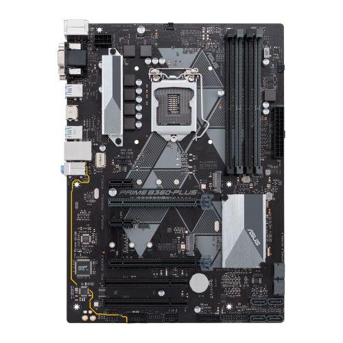 Asus PRIME B360-PLUS, Intel B360, 1151, ATX, DDR4, VGA, DVI, HDMI, XFire, LED Lighting, M.2