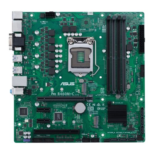 Asus PRO B460M-C/CSM - Corporate Stable Model, Intel B460, 1200, Micro ATX, 4 DDR4, VGA, HDMI, 2 DP, COM Port, LPC Header, M.2