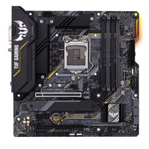 Asus TUF GAMING B460M-PLUS (WI-FI), Intel B460, 1200, Micro ATX, 4 DDR4, XFire, DVI, HDMI, DP, AX Wi-Fi, RGB Lighting, M.2