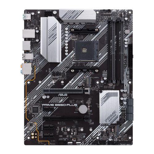 Asus PRIME B550-PLUS, AMD B550, AM4, ATX, 4 DDR4, HDMI, DP, XFire, PCIe4, RGB Lighting, M.2