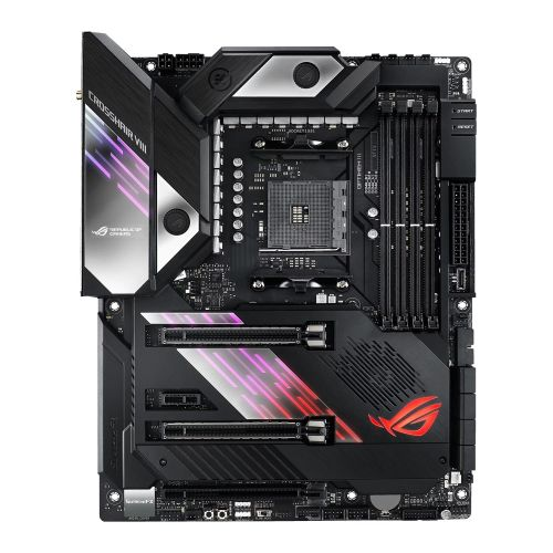 Asus ROG CROSSHAIR VIII FORMULA, AMD X570, AM4, ATX, 4 DDR4, SLI/XFire, Wi-Fi, 5GB LAN, PCIe4, RGB Lighting, M.2