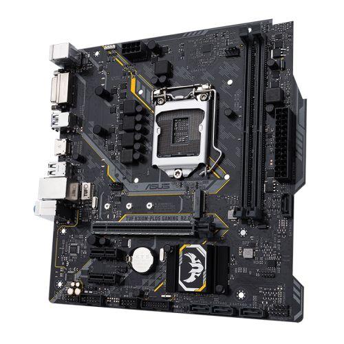 Asus TUF H310M-PLUS GAMING R2.0, Intel H310, 1151, Micro ATX, 2 DDR4, DVI, HDMI, RGB Lighting, M.2