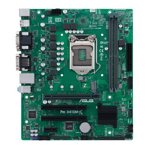 Asus PRO H410M-C/CSM - Corporate Stable Model, Intel H410, 1200, Micro ATX, 2 DDR4, VGA, DVI, HDMI, COM Port, LPC Header, M.2