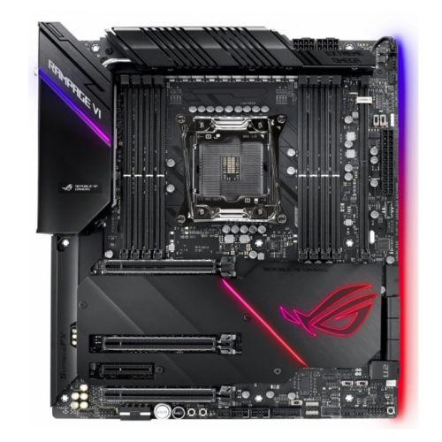 Asus ROG RAMPAGE VI EXTREME OMEGA, Intel X299, 2066, EATX, 8 DDR4, SLI/XFire, Wi-Fi, 10GB LAN, RGB Lighting