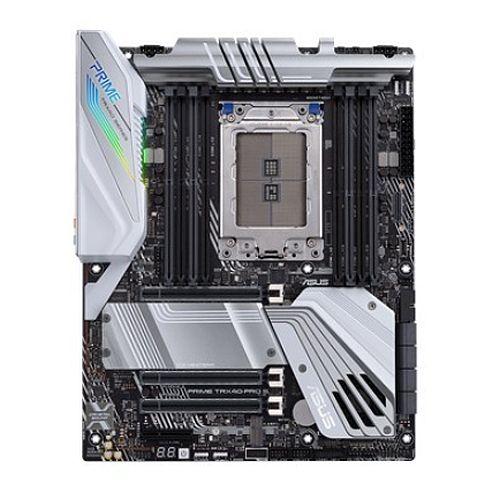 Asus PRIME TRX40-PRO S, AMD TRX40, sTRX40, ATX, 8 DDR4, XFire/SLI, RGB Lighting, M.2, Robust Power, 64 Core CPU Support