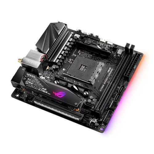 Asus STRIX X470-I GAMING, AMD X470, AM4, Mini ITX, DDR4, HDMI, Wi-Fi, RGB Lighting, M.2