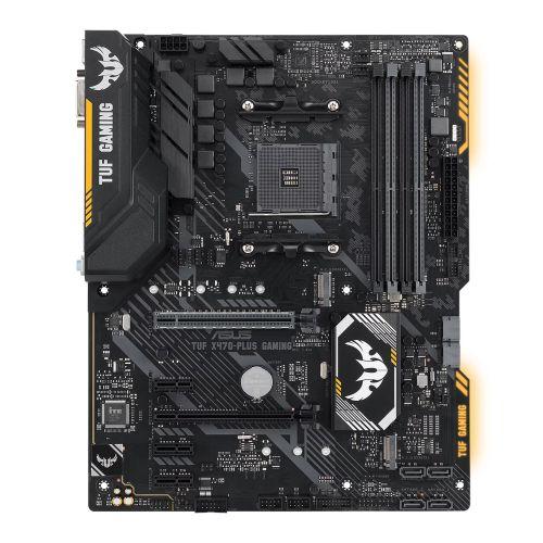Asus TUF X470-PLUS GAMING, AMD X470, AM4, ATX, DDR4, DVI, HDMI, XFire, RGB Lighting, M.2