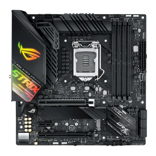 Asus ROG STRIX Z490-G GAMING (WI-FI), Intel Z490, 1200, Micro ATX, 4 DDR4, XFire, HDMI, DP, AX Wi-Fi, 2.5G LAN, RGB Lighting, M.2