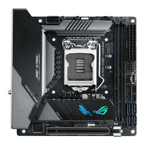 Asus ROG STRIX Z490-I GAMING, Intel Z490, 1200, Mini ITX, 2 DDR4, HDMI, DP, AX Wi-Fi, 2.5G LAN, RGB Lighting, M.2