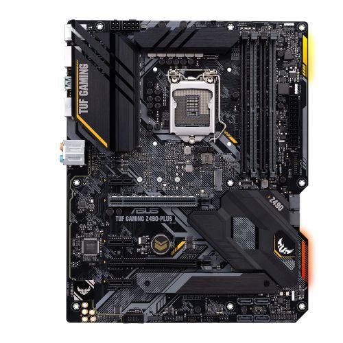 Asus TUF GAMING Z490-PLUS, Intel Z490, 1200, ATX, 4 DDR4, XFire, HDMI, DP, RGB Lighting, M.2
