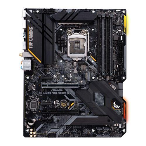 Asus TUF GAMING Z490-PLUS (WI-FI), Intel Z490, 1200, ATX, 4 DDR4, XFire, HDMI, DP, AX Wi-Fi, RGB Lighting, M.2
