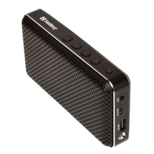 Sandberg Bluetooth Buddy - Bluetooth Speaker, 3000mAh Powerbank, Selfie Remote & Torch, 5 Year Warranty