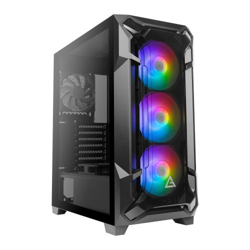 Antec DF600 FLUX RGB Gaming Case with Tempered Glass Window, ATX, No PSU, 5 x Fans (3 Front ARGB), Advanced Ventilation