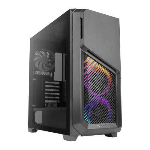 Antec DP502 FLUX RGB Gaming Case w/ Tempered Glass Window, ATX, No PSU, 5 x Fans (3 Front ARGB), Advanced Ventilation