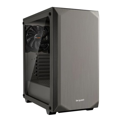 Be Quiet! Pure Base 500 Gaming Case with Window, ATX, No PSU, 2 x Pure Wings 2 Fans, PSU Shroud, Metallic Grey