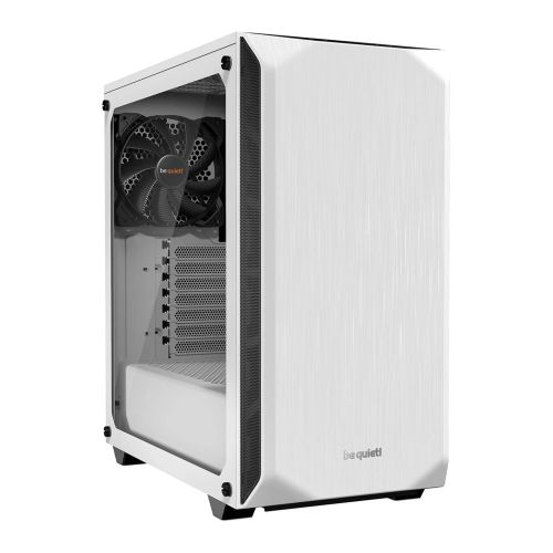 Be Quiet! Pure Base 500 Gaming Case with Window, ATX, No PSU, 2 x Pure Wings 2 Fans, PSU Shroud, White