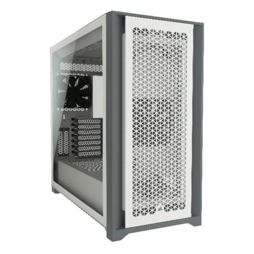 Corsair 5000D Airflow Gaming Case with Tempered Glass Window, E-ATX, 2 x AirGuide Fans, High-Airflow Front Panel, USB-C, White