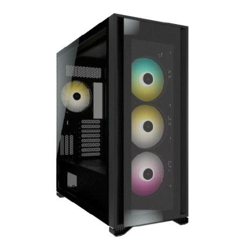 Corsair iCUE 7000X RGB Gaming Case w/ 3x Tempered Glass Panels, E-ATX, 3 x SP140 RGB Elite Fans, iCUE Commander CORE XT included, USB-C, Black