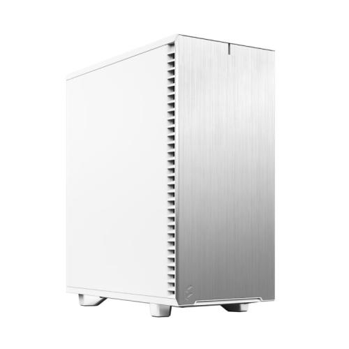 Fractal Design Define 7 Compact (White Solid) Gaming Case, ATX, 2 Fans, Sound Dampening, Ventilated PSU Shroud, USB-C
