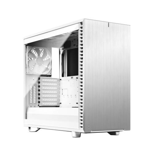 Fractal Design Define 7 (White TG) Gaming Case w/ Clear Glass Window, E-ATX, Multibracket, 3 Fans, Fan Hub, Silence-optimized, USB-C