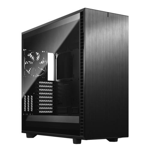 Fractal Design Define 7 XL (Light TG) Gaming Case w/ Light Tint Glass Window, E-ATX/SSI-EEB, Modular Design, 3 Fans, Fan Hub, Sound Dampening, USB-C