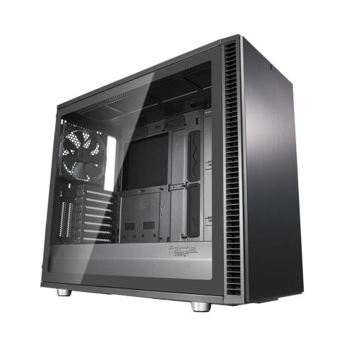 Fractal Design Define S2 (Gunmetal) Gaming Case w/ Light Tint Glass Window, E-ATX, Sound Dampening, PSU Shroud, Optional Top Filter, 3 Fans, USB-C