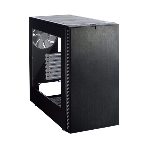 Fractal Design Define S (Black Window) Quiet Gaming Case w/ Clear Window, ATX, 2 Fans, ModuVent Technology, Extensive Water Cooling Support