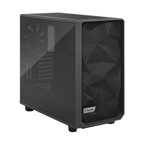Fractal Design Meshify 2 (Light TG Grey) Gaming Case w/ Light Tint Glass Window, E-ATX, Angular Mesh Front, 3 Fans, Fan Hub, Detachable Front Filter, USB-C