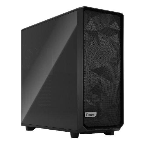 Fractal Design Meshify 2 XL (Black TG Dark) Gaming Case w/ Dark Tint Glass Window, E-ATX/SSI-EEB, Angular Mesh Front, 3 Fans, Fan Hub, Detach. Front Filter, USB-C