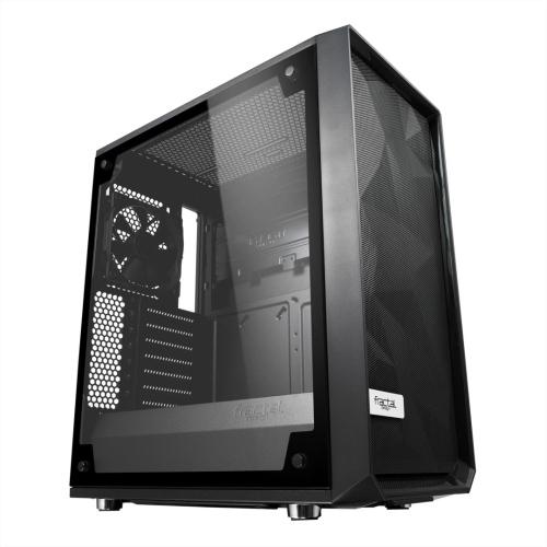 Fractal Design Meshify C (Light TG) Gaming Case w/ Light Tint Glass Window, ATX, Angular Mesh Front, High-airflow, 2 x 12cm Fans