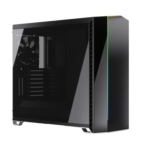 Fractal Design Vector RS ( Blackout Dark TG) Gaming Case w/ Dark Tint Glass Windows, E-ATX, ARGB Strip, 3 Fans, Changeable Top Panel, Fan Hub, USB-C