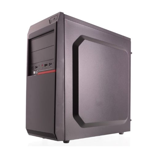 Riotoro CR100BE ATX Case, No PSU, 1 x USB 3.0, 2 x USB 2.0, Large Interior, Black