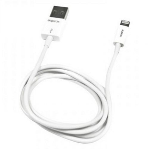 Approx (APPC32) 2-in-1 Lightning Cable, USB to Lightning/Micro USB, 1 Metre, White, Not Apple Certified