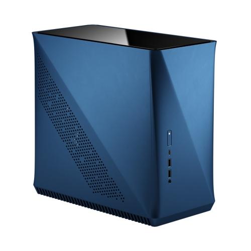 Fractal Design Era ITX (Cobalt TG) Compact Case w/ Glass Top Panel, Mini ITX, ATX/SFX PSU & 295mm GPU Support, 240mm Watercooling, USB-C