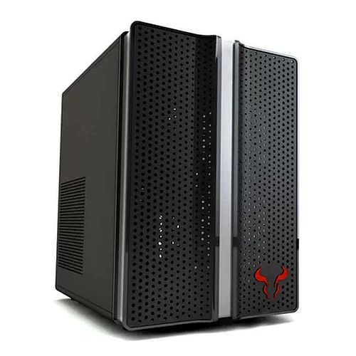 Riotoro CR1088 Mini Gaming Case, ATX, No PSU, 12cm Fan, RGB Lighting, Full-size ATX MB, GPU and PSU support