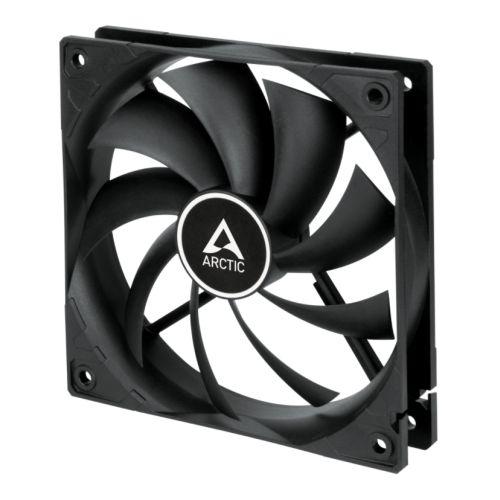 Arctic F12 12cm PWM Case Fan, Black, 9 Blades, Fluid Dynamic, up to 13.5K RPM, 6 Year Warranty