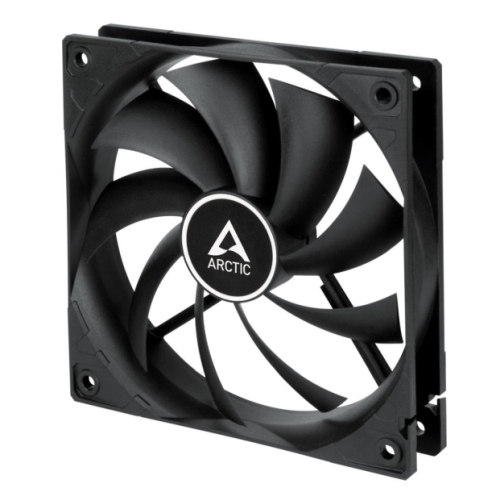 Arctic F12 12cm PWM PST Case Fan for Continuous Operation, Black, 9 Blades, Dual Ball Bearing, 6 Year Warranty