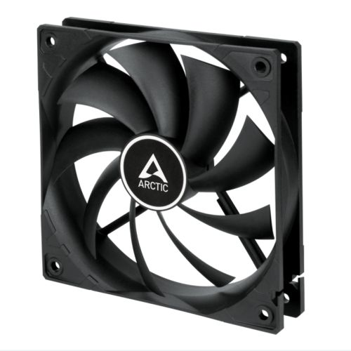 Arctic F12 Temperature Controlled 12cm Case Fan, Black, 9 Blades, Fluid Dynamic, 6 Year Warranty