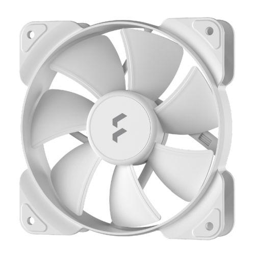 Fractal Design Aspect 12 12cm Case Fan, Rifle Bearing, Supports Chaining, Aerodynamic Stator Struts, 1200 RPM, White
