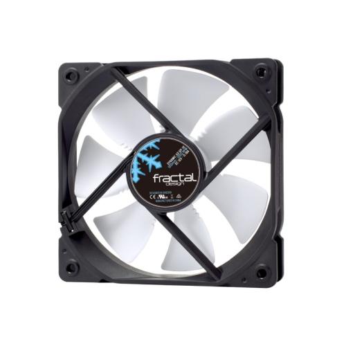 Fractal Design Dynamic X2 GP-12 12cm Case Fan, Long Life Sleeve Bearing, Counter-balanced Magnet, 1200 RPM, Black & White