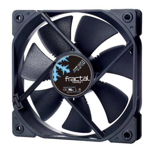 Fractal Design Dynamic X2 GP-12 12cm Case Fan, Long Life Sleeve Bearing, Counter-balanced Magnet, 1200 RPM, Black