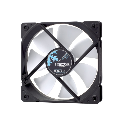 Fractal Design Dynamic X2 GP-12 PWM 12cm Case Fan, Long Life Sleeve Bearing, Counter-balanced Magnet, 2000 RPM, Black & White